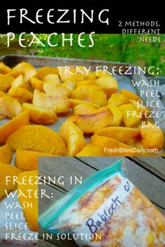 Freezing Peaches: Different Methods, Different Needs from FreshBitesDaily.com