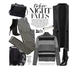 """""""Night owls"""" by mihreta-m ❤ liked on Polyvore featuring Monki, Topshop and Balmain"""