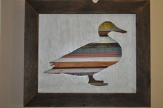 Rustic Duck Original Wood Art by Lynnsrusticcreations on Etsy, $155.00