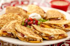 Bacon Ranch Quesadillas: Grilled Chicken or Steak. #Chilis