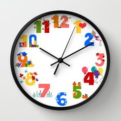 numbers Wall Clock by martasan Wall Clock Frame, Unique Wall Clocks, Natural Wood, Numbers, Home Decor, Homemade Home Decor, Decoration Home, Numeracy, Interior Decorating