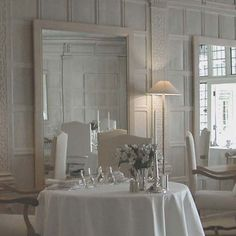 DANESFIELD HOUSE    In this country house hotel, Anouska Hempel has created the ultimate carte blanche; a beautiful, bleached oak-panelled dining room of linen, chalk and cream