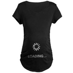 Loading Circle - Maternity Dark T-Shirt for