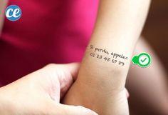 Faire un tatouage éphème sur le bras de l'enfant pour le retrouver facilement s'il se perd
