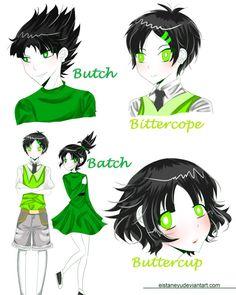 Green( W/ my genderbend OC) by Eistaneyu