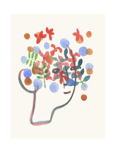 'flowers in your hair' by louise van terheijden of LouisestArt
