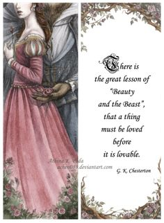 There is a great lesson in Beauty and the Beast...