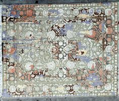 Hand Knotted  Oxydyed area rug Wool with bamboo pile .