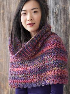 Big Texture Cape | Yarn | Free Knitting Patterns | Crochet Patterns | Yarnspirations