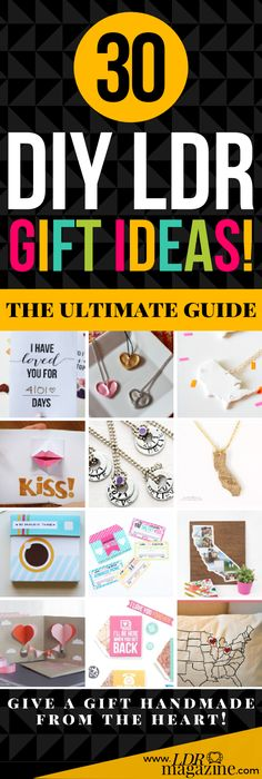 Sure, there's lots of long distance gifts out there to buy, but you're trying to save up for that plane ticket to go see them instead... 30 DIY LDR Gift Ideas!