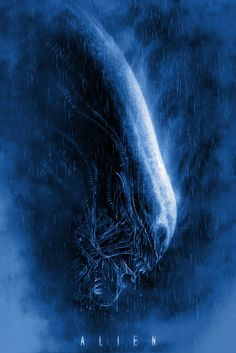 """Alien"" Blue by Casey Callender #alien #aliens #blue #enemies #film #films #imagined-worlds #movie #movies #ridley #ridley-scott #sci-fi #scifi #scott #ship #space #spaceship"