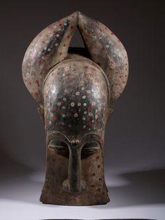 Baoule mask - masque Liberia, African Pottery, Statues, Afrique Art, Art Tribal, African Sculptures, Art Premier, African Tribes, Masks Art
