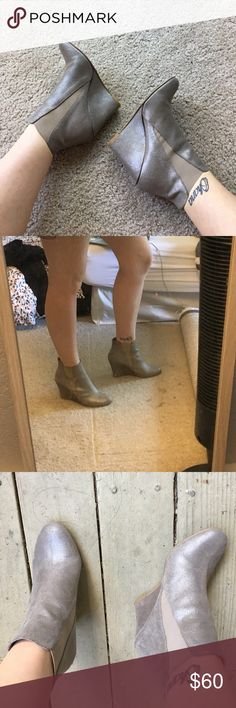 Jonak Paris silver ankle booties 💗 Jonak Paris silver ankle booties. size 9. 3.5 inches high. Worn a couple of times but still in great condition. From France 🇫🇷 Jonak Paris Shoes Ankle Boots & Booties