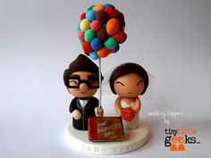 Wedding Cake Topper  UP Cake Topper  Carl & by TinyLittleGeeks