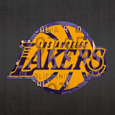 Mixed Media - Los Angeles Lakers Basketball Team Retro Logo Recycled License Plate Art by Design Turnpike , Basketball Iphone Wallpaper, Lakers Wallpaper, Los Angeles Clippers, Los Angeles Lakers, Kobe Bryant Baby, Michael Jordan Art, Cheerleading Workouts, License Plate Art, Sports Images