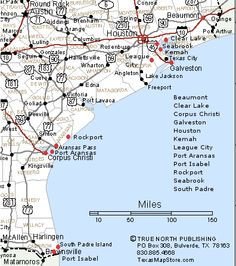 Map Of Texas Gulf Coast Cities