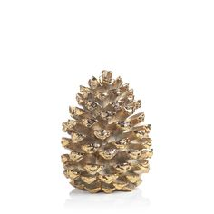 Gold Decorative Pinecone Figurine in Various Sizes – BURKE DECOR Pine Cone Decorations, Christmas Decorations, Conifer Cone, Plant Background, Burke Decor, Pine Cones, Gold, Medium, Tabletop