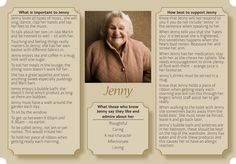 Example one page profile as new approach to caring for people with Dementia. Read more on our blog: http://www.unitedresponse.org.uk/2013/03/exploring-new-approaches-to-homecare-for-people-with-dementia/