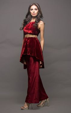 Show details for Red velvet Pakistani Dress Design, Pakistani Dresses, Indian Dresses, Indian Outfits, Pakistani Couture, Stylish Dresses, Casual Dresses, Fashion Dresses, Lovely Dresses
