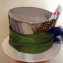 Decorate a Mini Top Hat. Learn how to make a small mad hatter style hat with this step-by-step photo tutorial.