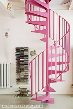 I would choose a different color, but I do love this type of stairwell. I would love one leading up to a small library/reading room.
