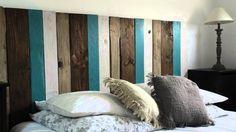 60 Most Creative DIY Projects Pallet Headboards Bedroom Design Ideas 25 Wood Headboard, Headboards For Beds, Pallet Headboards, Wood Pallet Beds, Wood Pallets, Smart Bed, Pallet Wall Shelves, Headboard Designs, Paint Colors For Living Room