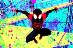 Spiderman into the spider Title Sequence by Bob Persichetti Spiderman Kunst, Spiderman Spider, Spider Gwen, Spiderman Pics, Black Spiderman, Character Design Cartoon, Character Drawing, Comic Character, Miles Morales Spiderman