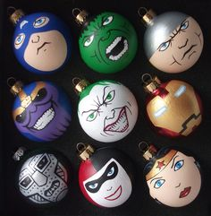 Lots of superhero and villain ornaments! Custom orders welcome!!! https://www.etsy.com/shop/GingerPots
