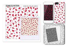 Seamless Heart Vector Pattern by Sweetmango on @creativemarket