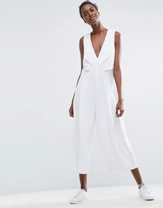 9be34947638 ASOS Jumpsuit with Origami Detail and Culotte Leg at asos.com