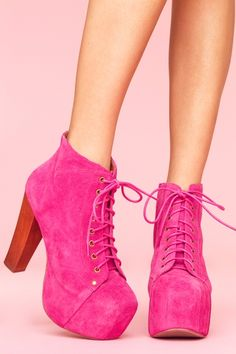 Loving this color... okay so I'm in love with Jeffery Campbell.