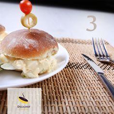 ساندویچ سالاد تخم مرغ همراه با نان خانگی