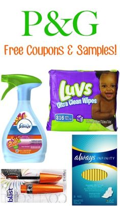 P&G FREE Samples and Coupons!!
