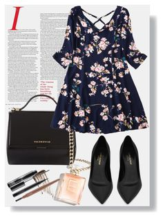 """""""Untitled #43"""" by man0lya ❤ liked on Polyvore featuring Givenchy, Yves Saint Laurent, Illamasqua and MAC Cosmetics"""