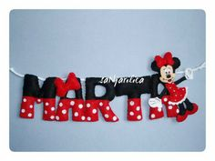 Minnie the Mouse name banner