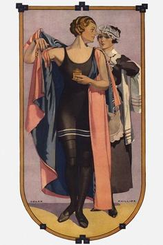 Coles Phillips - 1914 bathing beauty