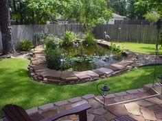 backyard pond - I like the edging                                                                                                                                                                                 More