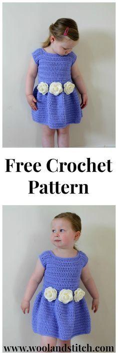 Flower Bridesmaid Dress - Free Crochet Pattern