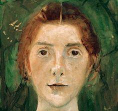 Paula Modersohn-Becker-Selbstbildn.1897 Paula Modersohn Becker, L'art Du Portrait, Abstract Portrait, Figure Painting, Painting & Drawing, Female Painters, Art Japonais, First Art, Art Graphique