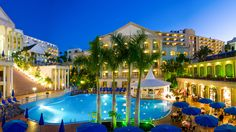 Bahia Princess Resort **** - #tenerife #princesshotels #family #kids #weddings #bahia #pool #terrace #night #front