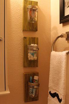 Small Wall Mounted Mason Jar by 08erDesigns on Etsy, $12.00