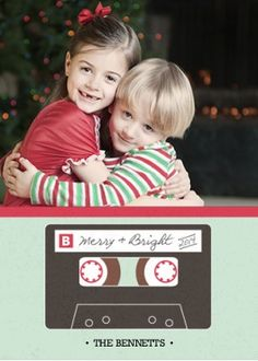 nostalgic mix tape holiday photo card by erika firm