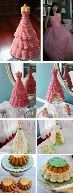 How to Make a Mannequin Cake Tutorial #diy #mannequin #cake #barbie #recipe http://thecakebar.tumblr.com/post/49975630512/how-to-make-a-mannequin-cake-tutorial-you-can-use