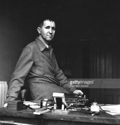 Portrait of German playwright Bertolt Brecht (1898 - 1956) as he... #brecht: Portrait of German playwright Bertolt Brecht (1898 -… #brecht