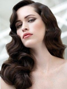 1930s Hairstyles On Pinterest 1930s Makeup 1940s Hairstyles And 30s Hairstyles For Long Hair