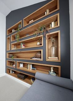 Delightful Furniture Living Room Awesome diy easy cheap book storage bookshelf ideas Furniture Arranging for Small Living Rooms Diy Casa, Small Living Rooms, Shelf Ideas For Living Room, Family Rooms, Living Room Renovation Ideas, Gray Living Room Walls, Living Room Shelving, Bedroom Storage Shelves, Living Room Cupboards