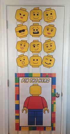Pin your head on the Lego-Man game. Lego birthday party Pin your head on the Lego-Man game. Lego birthday party Pin your head on the Lego-Man game. Lego birthday party Pin your head on the Lego-Man game. Lego Party Decorations, Lego Party Games, Lego Themed Party, Lego Birthday Party, 6th Birthday Parties, 5th Birthday Ideas For Boys, Lego Birthday Banner, Lego Movie Party, Birthday Board
