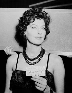 """"""" """"Ava Gardner as Lady Brett Ashley on the set of The Sun Also Rises, 1957. """" """""""