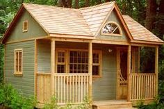 Cheap Log Cabin Kits Small Prefab Cabin Kits, plans for cabins and cottages Guest House Cottage, Br House, Tiny House Living, Garden Cottage, Guest Houses, Guest Cabin, Guest Cottage Plans, Guest House Shed, Cozy Cabin