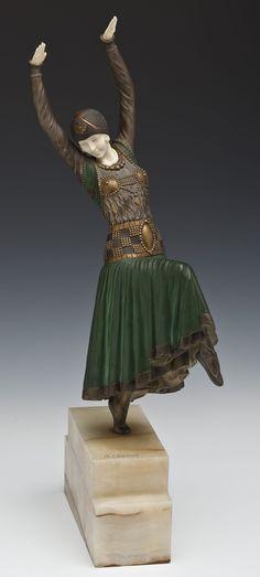Demetre H. Chiparus (Romanian, 1886-1947) bronze sculpture titled 'Vested Dancer'